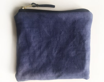 001//indigo//hand-dyed canvas pouch