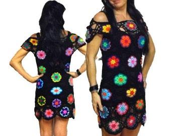 Crochet DRESS * AfriCan FloWer *  XS-M * Tunic