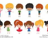 Kids Digital clip art for Personal and Commercial use - INSTANT DOWNLOAD