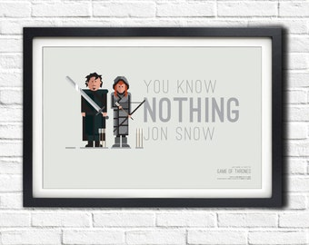Game of Thrones - JON & YGRITTE - 19x13 Poster