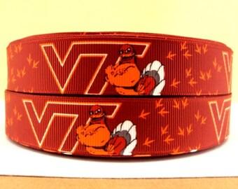 "7/8"" Virginia Tech Ribbon - 3 Yards"