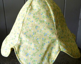 Toddler Tulip Hat for Spring and Summer Yellow Print