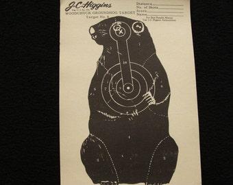 Vintage Woodchuck/Groundog Target no. 8 by J C Higgins