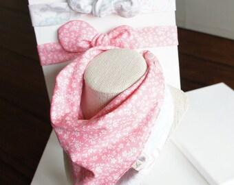 NEW/set of 3/All-IN-1 Baby toddler REVERSIBLE bandana bib-scarf-drool bib/burp cloth /wipe cloth+adjustable headband/