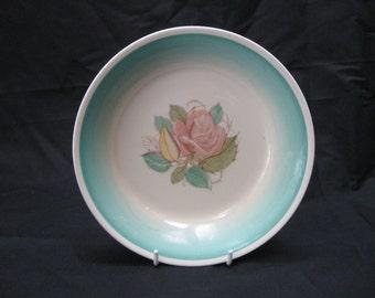 """Vtg Susie COOPER """"PATRICIA ROSE"""" Green Crown Works Burslem Cereal Soup Bowl"""
