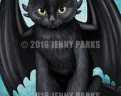 "Toothless Cat 8.5""x11"" Print"