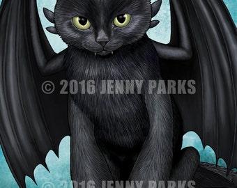 "Toothless Cat 8.5""x11"" Print"