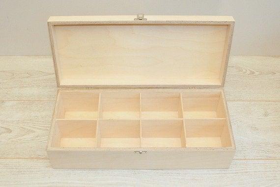 Wooden box large six side box unfinished wooden box with  |Large Unfinished Wooden Boxes