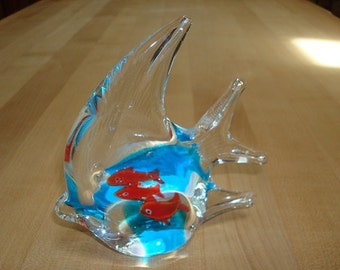 Hand Blown Solid Glass Fish Decor / Fish Paperweight