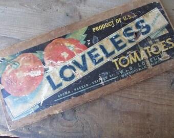 Tomato Crate Label Vintage Primitive Wall Decor