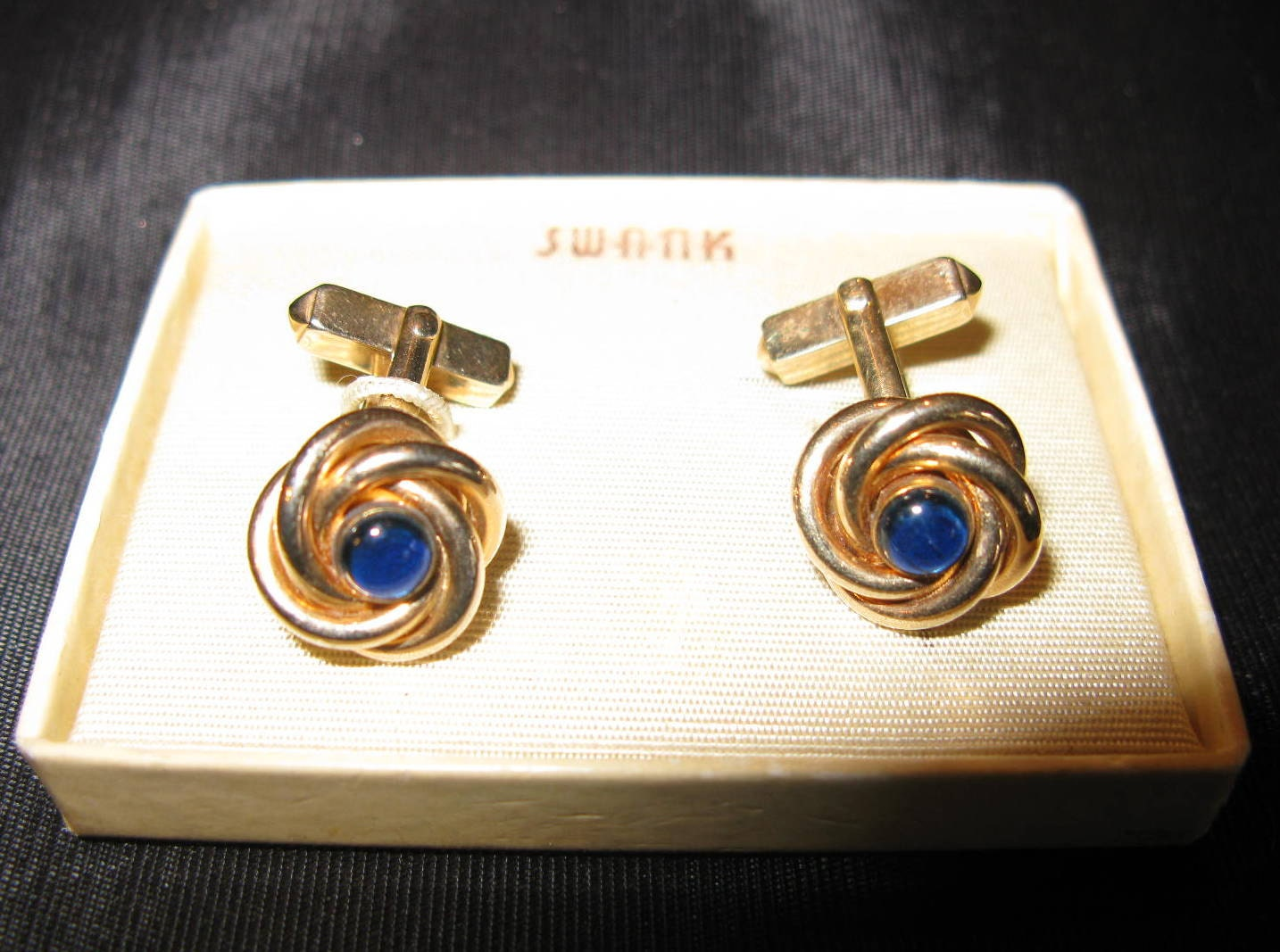 Swank cufflinks gold love knot jewelry cuff by for What is swank jewelry
