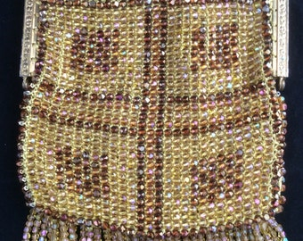 Gold Beaded Purse