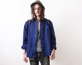 Vintage 1960s Work Jacket Bleu De Travail Workers Jacket Work Wear Summer Clothing Industrial