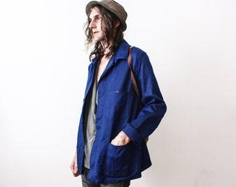 Vintage Work Jacket 1980s Workers Jacket WorkWear Summer Industrial Clothing