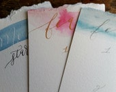 Wedding Menu, DIY by YOU, Customizable, Calligraphy