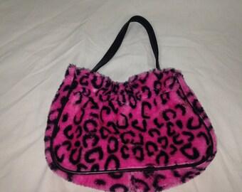 pink leopard cheetah purse