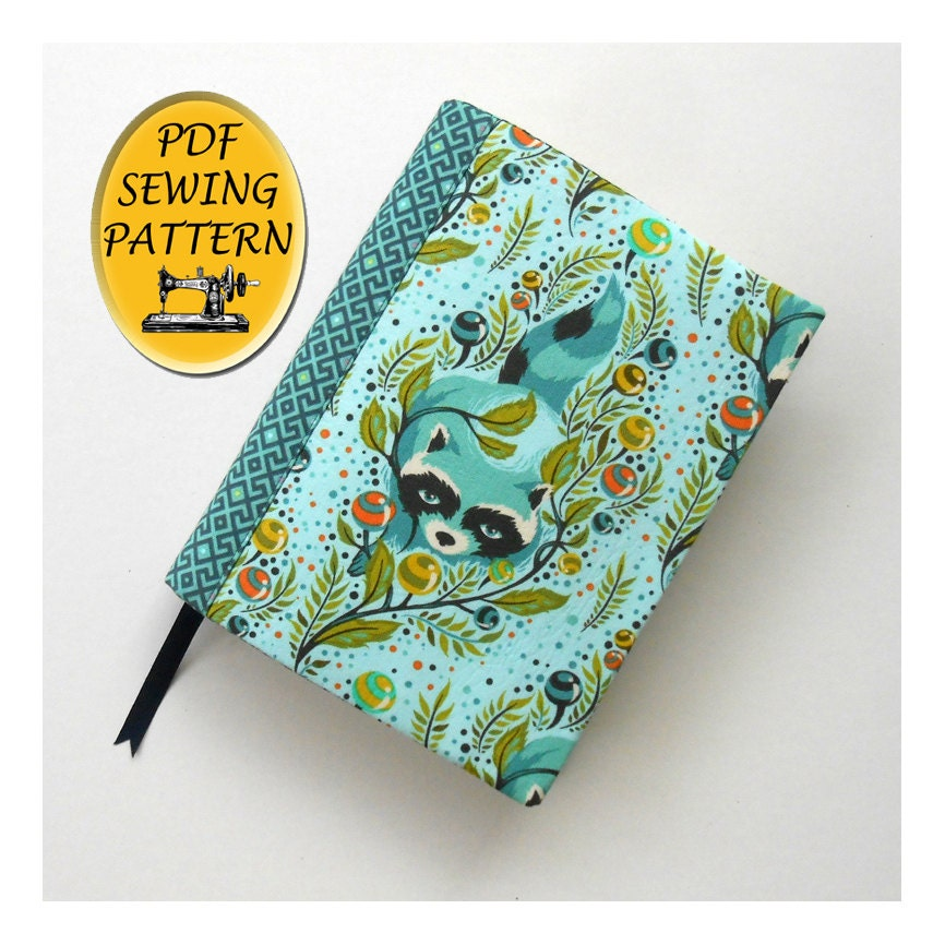 Book Cover Sewing Quarter ~ Notebook cover sewing pattern a journal