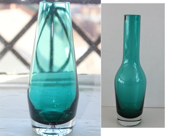 Vintage flower vase by your choice-  vase by either Riihimäen Lasi or by Finncristall