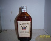 1942 Walker's Imperial Blended Whiskey  Peoria, Ill 8 3/8  inch tall ONE PINT whiskey bottle
