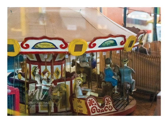 Vintage Toy Merry Go Round Fine Art Photo for Nursery or Child's Room