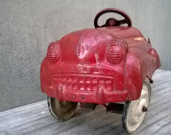 Vintage 1950s Murray Pedal Car Fire Truck