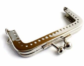 2 x purse frame 7.5cm silver F7.5/111