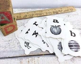 Mid Century Alphabet Flash Cards