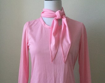 Pink Blouse & Scarf