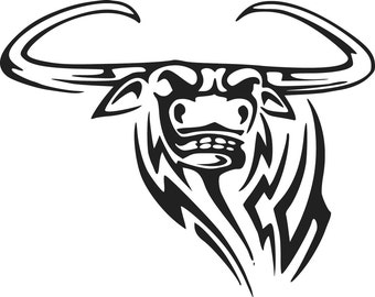 Tribal Bull Decal