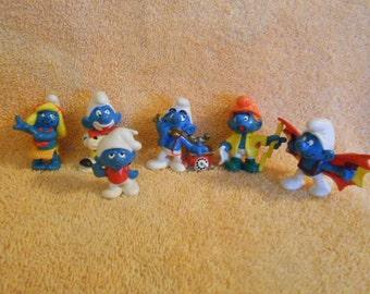 Vintage Smurfs By Peyo