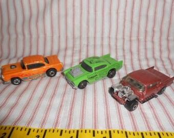 Three Vintage Die Cast Chevy Cars