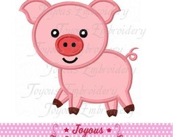 Instant Download Pig Applique Embroidery Machine Design NO:2052