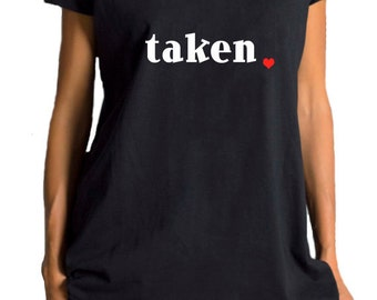 "NEW COLLECTION  Black Cotton  "" TAKEN "" Tee / HandMade Oversize White  T-Shirt / Casual top by Aakasha Top, (0127) A22400"