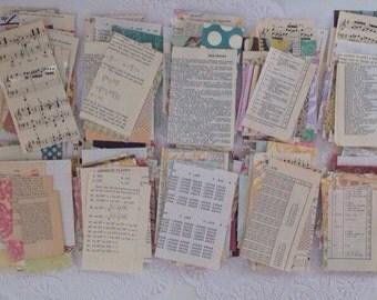 50 Piece MIXED Paper Scraps, Vintage Paper Scraps, Paper Destash, Scrapbook Paper, Paper Pack, Scraps, Destash