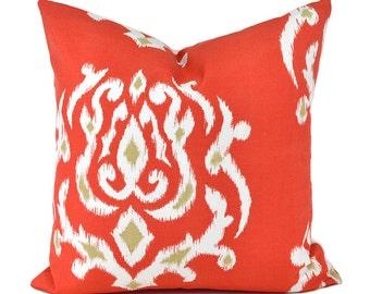 Outdoor Pillows Outdoor Pillow Covers Decorative Pillows ANY SIZE Pillow Cover Orange Pillow Outdoor Pillow Terrasol Outdoor Pamilla Coral