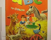 1959 My ABC to color Coloring Book By Merrill Publishing Co. Unused never colored in
