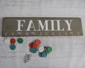 Family Celebration and Birthday Board in Glazed Gray Area....Mixed Tiles......HAVENSPLACE....Mothers Day....Christmas