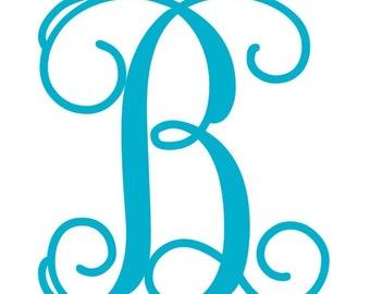 Single Letter Monogram Iron On,  One Letter Monogram Iron On Transfer, Iron On Letters, Heat Transfer Monogram