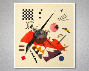 Orange Composition with Chessboard by Wassily Kandinsky - Poster Paper, Sticker or Canvas Print