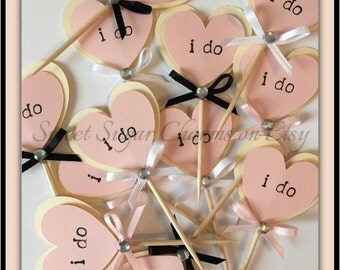 I do wedding cupcake toppers. Rustic wedding cupcake toppers. Rustic wedding decorations.