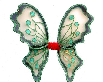 Medium green butterfly fairy wings - fairylove