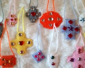 12 Handmade Needlepoint Ornaments by Angie