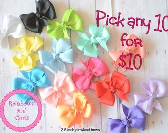 10 for 10 - hair bows for babies and girls