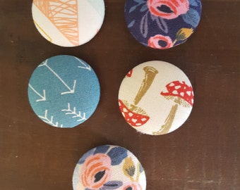 Whimsical Button Magnet Set of 5