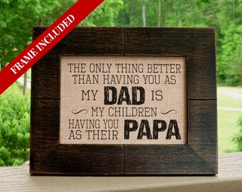 Gift for Dad, Fathers Day gift, Papa gift, Father's Day gift, Poppa, Grandpa gift, Dad gift from daughter, Dad gift from son