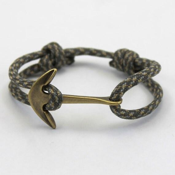 mens womens anchor bracelet paracord bracelet by