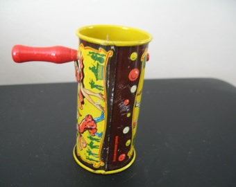 Vintage Kirchhof Hand Held Tin Noise Maker Toy