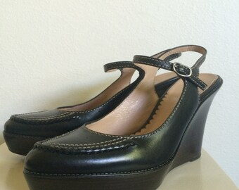 Cole Haan Wedges Heels Mary Janes Shoes Size 6