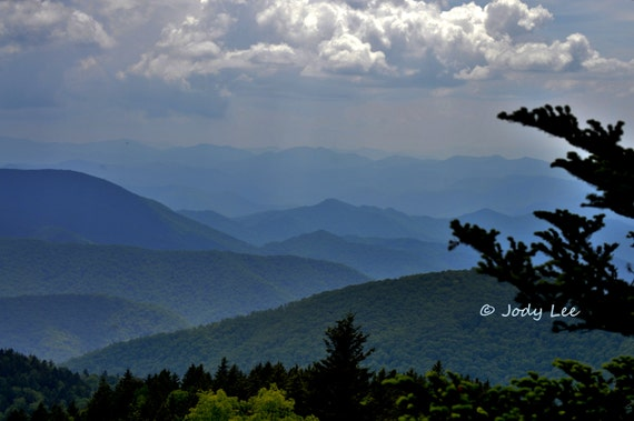 Blue Ridge Mountain Landscape from Putter Paws