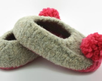 Child's felted wool slipper US sizes 13 and 2